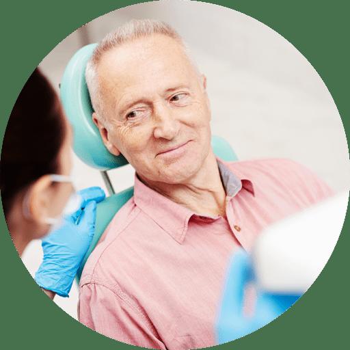 dental patient smiling after sinus lift procedure