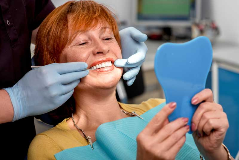 dental patient undergoing all on 4 dental implants procedure