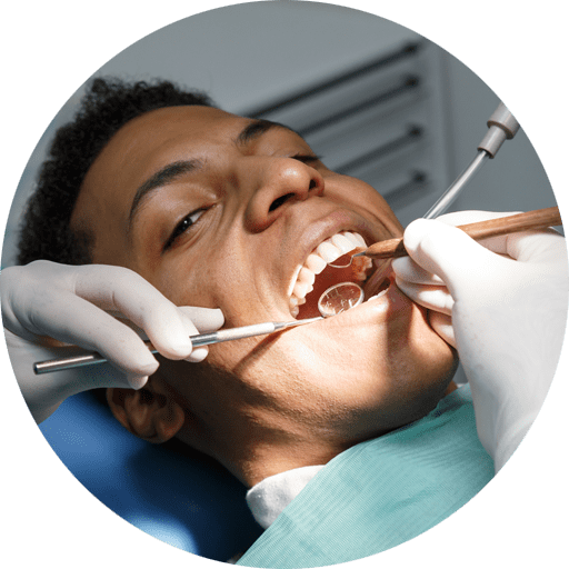 dental patient undergoing gingivectomy procedure