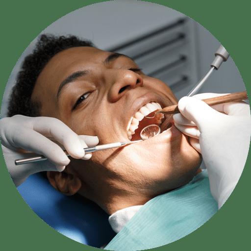 dental patient undergoing gingivectomy procedure