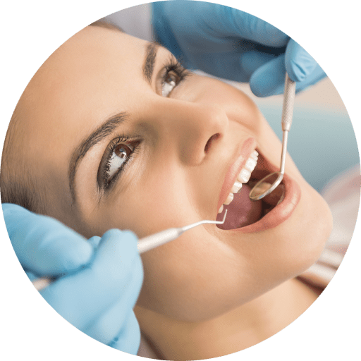 dental patient undergoing scaling and root planning procedure