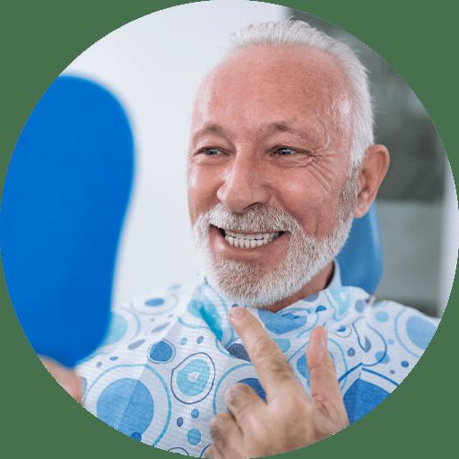 patient undergoing same day dental implants procedure