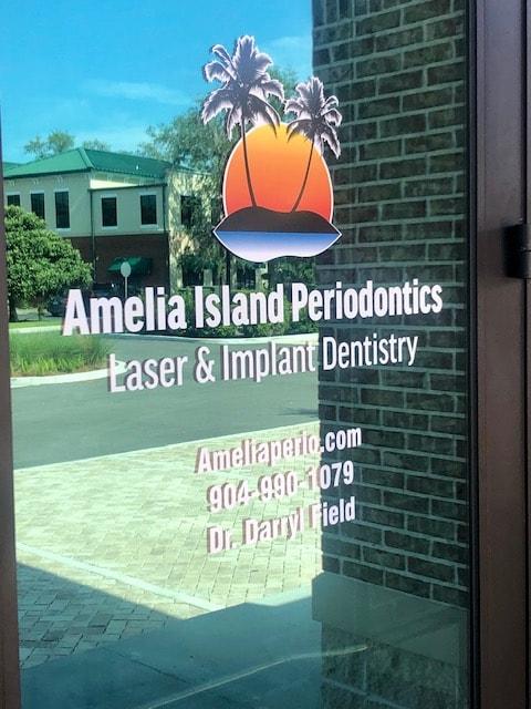The front door of Amelia Island Periodontics & Implant Dentistry