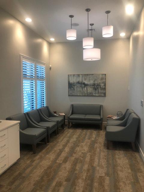 The reception room of Amelia Island Periodontics
